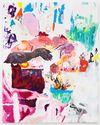 Morten Skrøder Lund, Untitled, 2015. Vinyl paint, oil on canvas. 240 × 190 cm