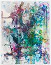Morten Skrøder Lund, Untitled, 2015. Gesso, watercolour, toner, styrofoam, lacquer, silicone on canvas. 180 × 140 cm