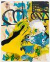 Morten Skrøder Lund, Untitled, 2015. Oil, lacquer, acrylic on canvas. 200 × 160 cm