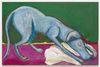 Tom Humphreys. Sniffer dog, 2019. Oil on linen. 117,5 x 178,5 cm. Christian Andersen, Copenhagen