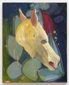 Tom Humphreys. Horse painting, 2019. Oil on linen. 50,5 x 40,5 cm. Christian Andersen, Copenhagen