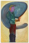 Tom Humphreys. Fisherman, 2019. Oil on linen. 190,5 x 125,5 cm. Christian Andersen, Copenhagen