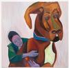 Tom Humphreys. Guard dog, 2019. Oil on canvas. 204,5 x 204,5 cm. Christian Andersen, Copenhagen