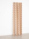 Rolf Nowotny, Lucid Flora, 2013. Larch. 5 pieces. Each 205 x 10 x 10 cm