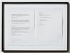 Lasse Schmidt Hansen. Untitled text (Torben Ribe painting), 2014. Framed laserprint. 38 x 52 cm