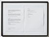 Lasse Schmidt Hansen. Untitled text (Torben Ribe painting), 2014. Framed laserprint. 38 x 52 cm