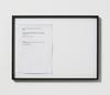 Lasse Schmidt Hansen. Untitled text, 2014. Framed laserprint. 38 x 52 cm