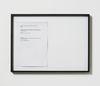 Lasse Schmidt Hansen. Untitled text, 2014. Framed laserprint. 38 x 52 cm