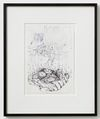 Till Megerle, Untitled (from the series Hallux), 2013. Ball pen, pencil, correction fluid on paper. 33 x 29 cm