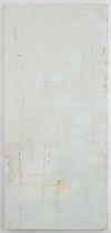 Hans-Christian Lotz, Untitled, 2009. Paint on metal. 174 x 79 cm