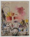 Julia Haller, Untitled, 2013. Acrylic, fabric colour and bone glue on linen. 75 x 61 cm