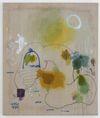 Julia Haller, Untitled, 2013. Acrylic, fabric colour and bone glue on linen. 77 x 66 cm