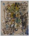 Julia Haller, Untitled, 2013. Acrylic, acrylic ink, fabric colour and bone glue on linen. 63 x 50 cm