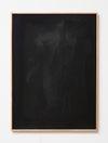 Julia Haller. Untitled, 2014. Bone glue, chalk, ferric oxide, gesso on linen, laser engraving on glass, oakframe. 72 x 53 cm. Passion, 2014. Christian Andersen, Copenhagen