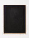 Julia Haller. Untitled, 2014. Bone glue, chalk, ferric oxide, gesso on linen, laser engraving on glass, oakframe. 66 x 51 cm. Passion, 2014. Christian Andersen, Copenhagen