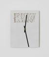 Benjamin Hirte. Untitled (The Realist, The Post JFK Issue), 2014. Aluminium and clockwork. 28,5 x 21,7 cm. Hard Words, 2014. Christian Andersen, Copenhagen
