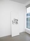 Benjamin Hirte. Untitled, 2014. Silk screen print on radiator. 200 x 70 x 14 cm. Winter, 2014. Christian Andersen, Copenhagen