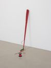 Arild Tveito. Auchterarder #1 and #3, 2013. Putter and low-stretch polyester rope (#3 w. reel). Each h. 91 cm. Simon Ling, Thea Moeller, Arild Tveito. Oil on canvas, 2013. Christian Andersen, Copenhagen