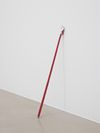 Arild Tveito. Untitled, 2013. Inspection mirror and low-stretch polyester rope. h. 58 cm. Simon Ling, Thea Moeller, Arild Tveito. Oil on canvas, 2013. Christian Andersen, Copenhagen