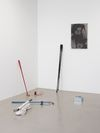Installation view. Simon Ling, Thea Moeller, Arild Tveito. Oil on canvas, 2013. Christian Andersen, Copenhagen