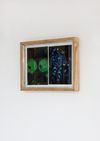 Tom Humphreys. Untitled, 2011. Gouache on paper. Art work mounted on gesso primed board in artists frame (wood, aluminium, glass, screws). 40 x 50 cm. Straight Man's Camp, 2012. Christian Andersen, Copenhagen