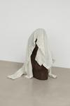 Marie Lund. Veneer, 2012. Carved wooden figure, silk shirt. Height 60 cm. End On, 2012. Christian Andersen, Copenhagen