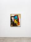 Julia Haller. Untitled, 2020. Acrylic and direct print on rubberised fabric, artist's frame. 103.9 cm x 85.1 cm