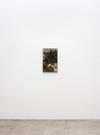 Julia Haller. Untitled, 2020. Acrylic and lacquer on rubberised fabric, artist's frame. 61.4 cm x 38.1 cm