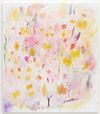 Astrid Svangren. the juice of bees/ the berries of the grape/ and other secrets, 2020. Oil, pastel, and coloured pencil on canvas. 150 x 130 cm. Paris Internationale, Paris. Christian Andersen, Copenhagen, 2020.