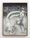 Till Megerle. Untitled (Taste my Meat), 2018. Charcoal on paper. 57 x 43 cm. June Art Fair, Online Edition in partnership with Hauser & Wirth and ArtReview, Basel. Christian Andersen, Copenhagen