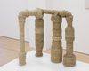 Benjamin Hirte. Factory, 2018, Recycables, seagrass rope. 43,18 x 48,26 x 30,48 cm