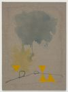 Julia Haller. Untitled, 2013. Boneglue, gouache, watercolor, textile colour, acrylic ink on linen. 74 x 54 cm. Artissima, Turin, 2013. Christian Andersen, Copenhagen