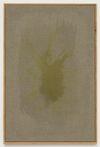 Julia Haller. Untitled, 2013. Boneglue, gouache, watercolor, textile colour on linen, artist's frame. 60,5 x 40,2. Artissima, Turin, 2013. Christian Andersen, Copenhagen