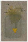 Julia Haller. Untitled, 2013. Boneglue, gouache, watercolor, textile colour on linen. 59 x 39 cm. Artissima, Turin, 2013. Christian Andersen, Copenhagen