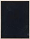 Julia Haller. Untitled, 2015. Bone glue, chalk, ferric oxide, gesso on linen, laser engraving on glass, oak frame. 61 x 46 cm. Liste, Basel, 2015. Christian Andersen, Copenhagen