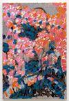 Morten Skrøder Lund. Untitled, 2018. Aluminium, acrylic and oil on canvas. 90 x 60 cm. Liste, Basel, 2018. Christian Andersen, Copenhagen