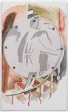 Carl Mannov. Impendex, 2019. Gesso, paper and acrylic on canvas. 100 x 60 cm. Chart Art Fair, Copenhagen, 2019. Christian Andersen, Copenhagen
