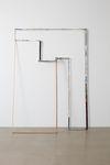 Sara Barker. interruptions, 2011. Various woods, aluminium, various paints, filler, rivets, pins. 183 x 133 x 40 cm. Sediments, 2011. Christian Andersen, Copenhagen