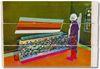 Alex Dordoy. Living relic, 2012. Toner and oil on Jesmonite. 125 x 90 x 5 cm. AD.HD, 2012. Christian Andersen, Copenhagen