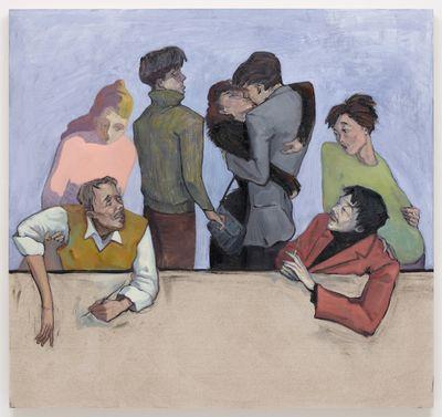 Li Ran. Always Talk About Positions, 2020. Oil on canvas. 150 x 160 cm. Out of Reach, 2021. Christian Andersen, Copenhagen