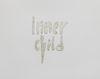 Sidsel Meineche Hansen. Inner Child, 2021. Letters cast in tin. 55 x 44 x 0,3 cm.