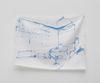 Sidsel Meineche Hansen. double bedroom, 2021. Methylene blue on silk. 33 x 46,5 cm