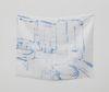 Sidsel Meineche Hansen. family bathroom suite. Methylene blue on silk. 36,5 x 46,5 cm