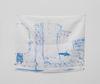 Sidsel Meineche Hansen. well-maintained high-rise block, 2021. Methylene blue on silk. 37 x 46,5 cm. June Art Fair, Basel, 2021. Christian Andersen, Copenhagen