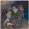 Li Ran. Be Angry, But Sin Not, 2020. Oil on canvas. 70 x 70 cm. June Art Fair, Basel, 2021. Christian Andersen, Copenhagen