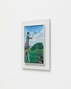 Damon Sfetsios. The Hammer, 2021. Oil on linen, artist's frame. 45 x 30 cm unframed. 59 x 44 cm framed. Frieze Focus, London. Christian Andersen, Copenhagen