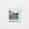 Damon Sfetsios. Around The Barn, 2021. Oil on linen, artist's frame. 28 x 38 cm unframed. 42 x 52 cm framed. Frieze Focus, London. Christian Andersen, Copenhagen