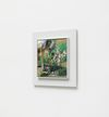 Damon Sfetsios. Onion Pulling, 2016. Oil on linen, artist's frame. 30 x 30 cm unframed. 44 x 44 cm framed. Frieze Focus, London. Christian Andersen, Copenhagen